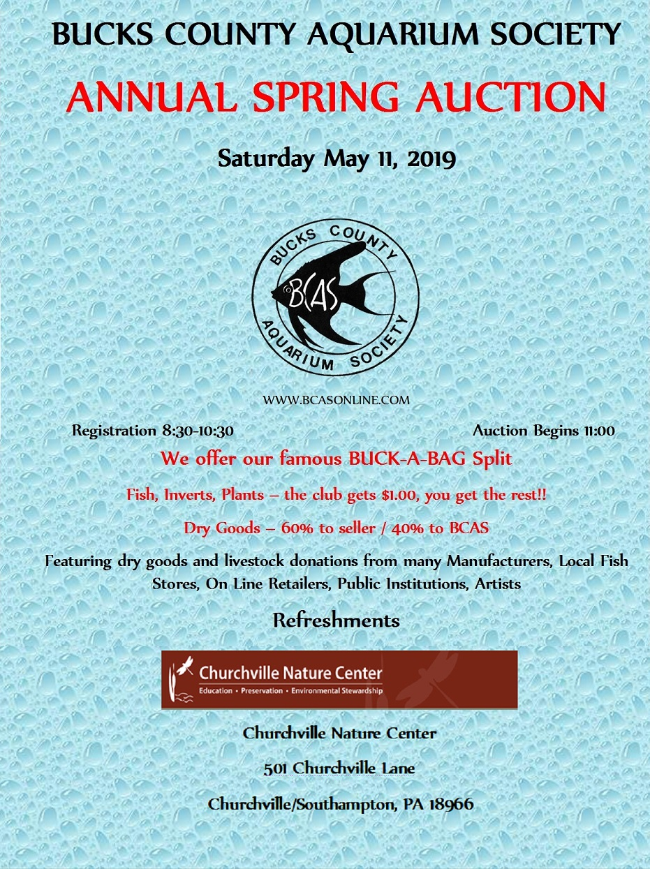 Auctions - Bucks County Aquarium Society